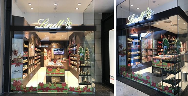 Lindt abre su quinta tienda en barcelona dentro del centro - Centro comercial maquinista barcelona ...