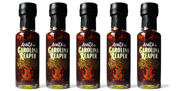 Aceite de Oliva Virgen Extra con Carolina Reaper