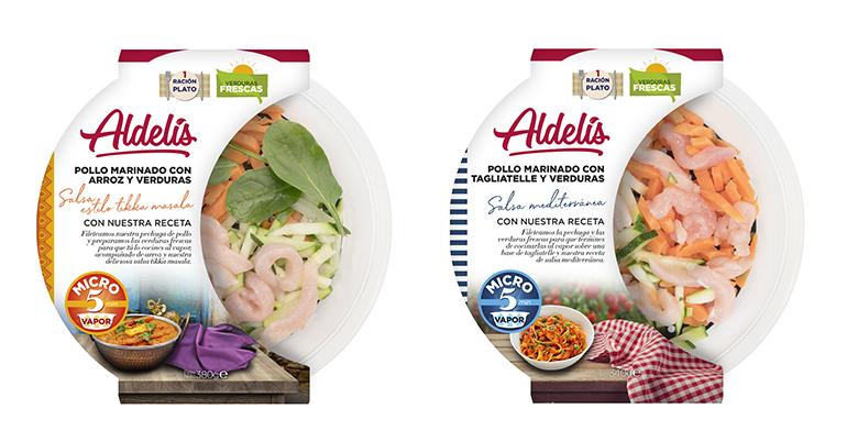 Platos con base de pollo al vapor para microondas y nutricionalmente completos