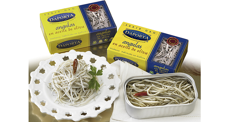 Selectas angulas en aceite de oliva al ajillo y con toque picante