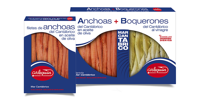 Filetes de anchoas y filetes de boquerón del Cantábrico