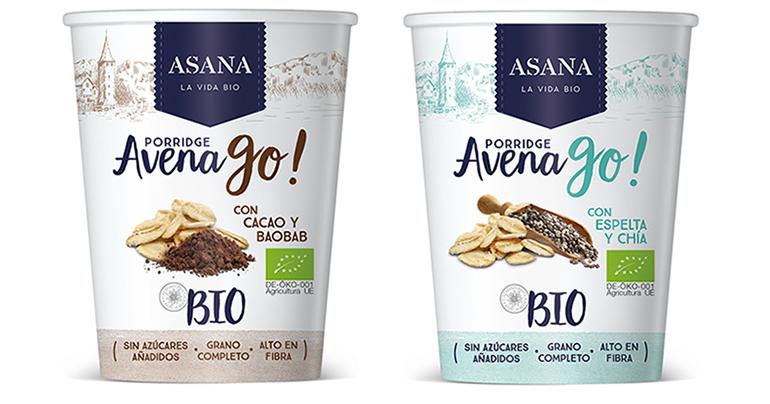 Nuevos desayunos bio: Porridge On The Go con cacao y baobab y con espelta y chía