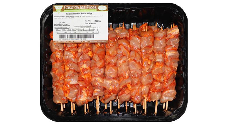Pinchos morunos con las mejores partes del pollo y pavo