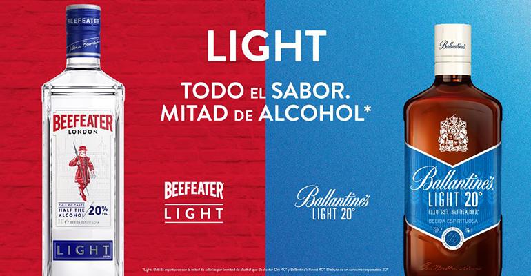 Beefeater Light y Ballantine´s Light, Pernod Ricard España innova en la categoría de espirituosos con propuestas de menor graduación
