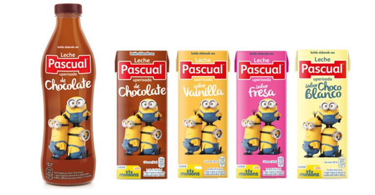 Los Minions, protagonistas del nuevo diseño de batidos Pascual