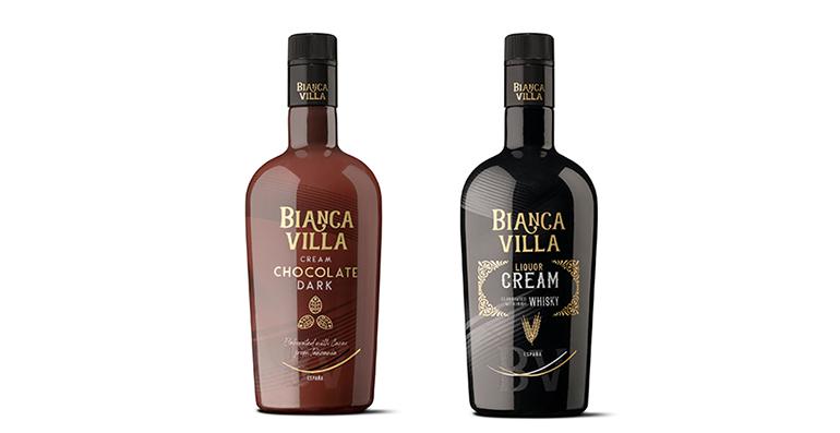 Cremas de licor premium de chocolate y whisky