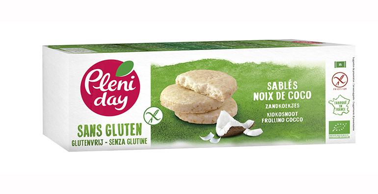 Galletas de coco  a base de harina de arroz integral de origen biológico, sin gluten, lactosa ni aceite de palma