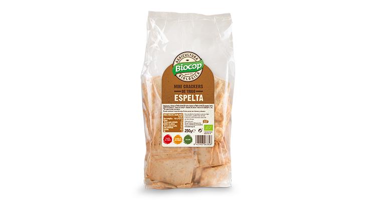 Mini crackers de trigo espelta, aptas para veganos
