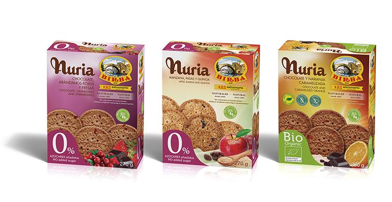 Nuria, familia de galletas healthy con 125 años de tradición