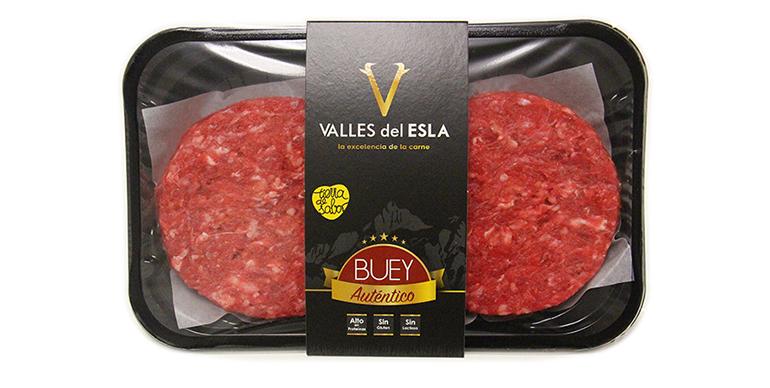 Selecta hamburguesa de buey de la Montaña de León