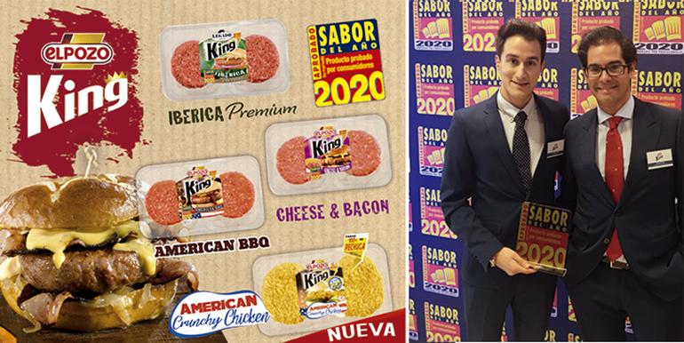 La ´Crunchy Chicken´ completa la gama de hamburguesas King, premiada como Sabor del Año 2020