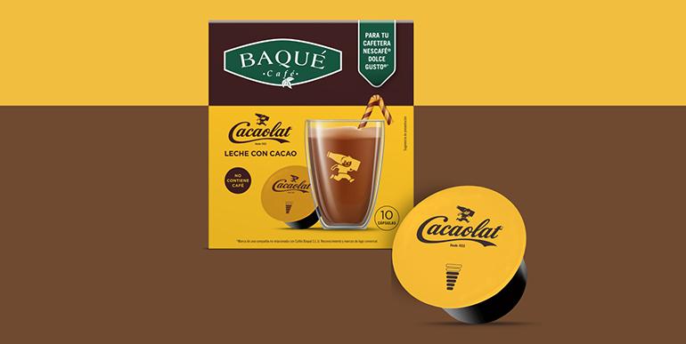 Cacaolat se pasa a las cápsulas de la mano de Baqué y a los helados  con La Menorquina