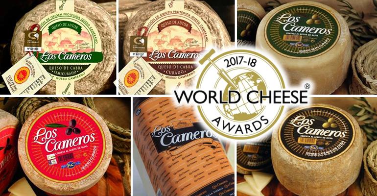 Los 'World Cheese Awards' premian a seis quesos de Los Cameros