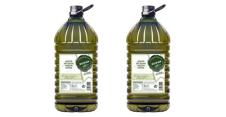 Dcoop amplía su gama de aceite virgen extra con garrafa PET de 5 l