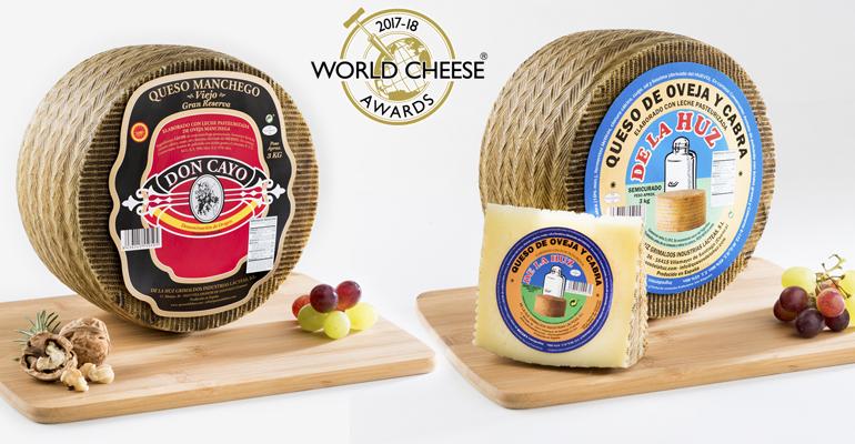 Queso de Oveja-Cabra de la Huz y manchego Don Cayo, sendas medallas de oro en los World Cheese Awards