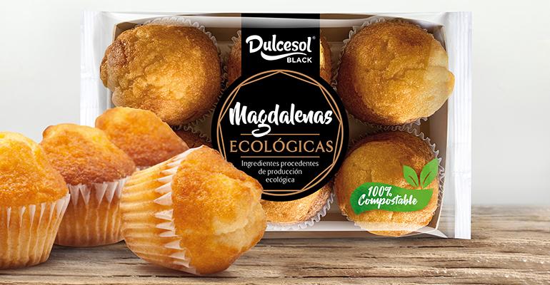 Primeras magdalenas con ingredientes y envase 100% ecológico y biodegradable
