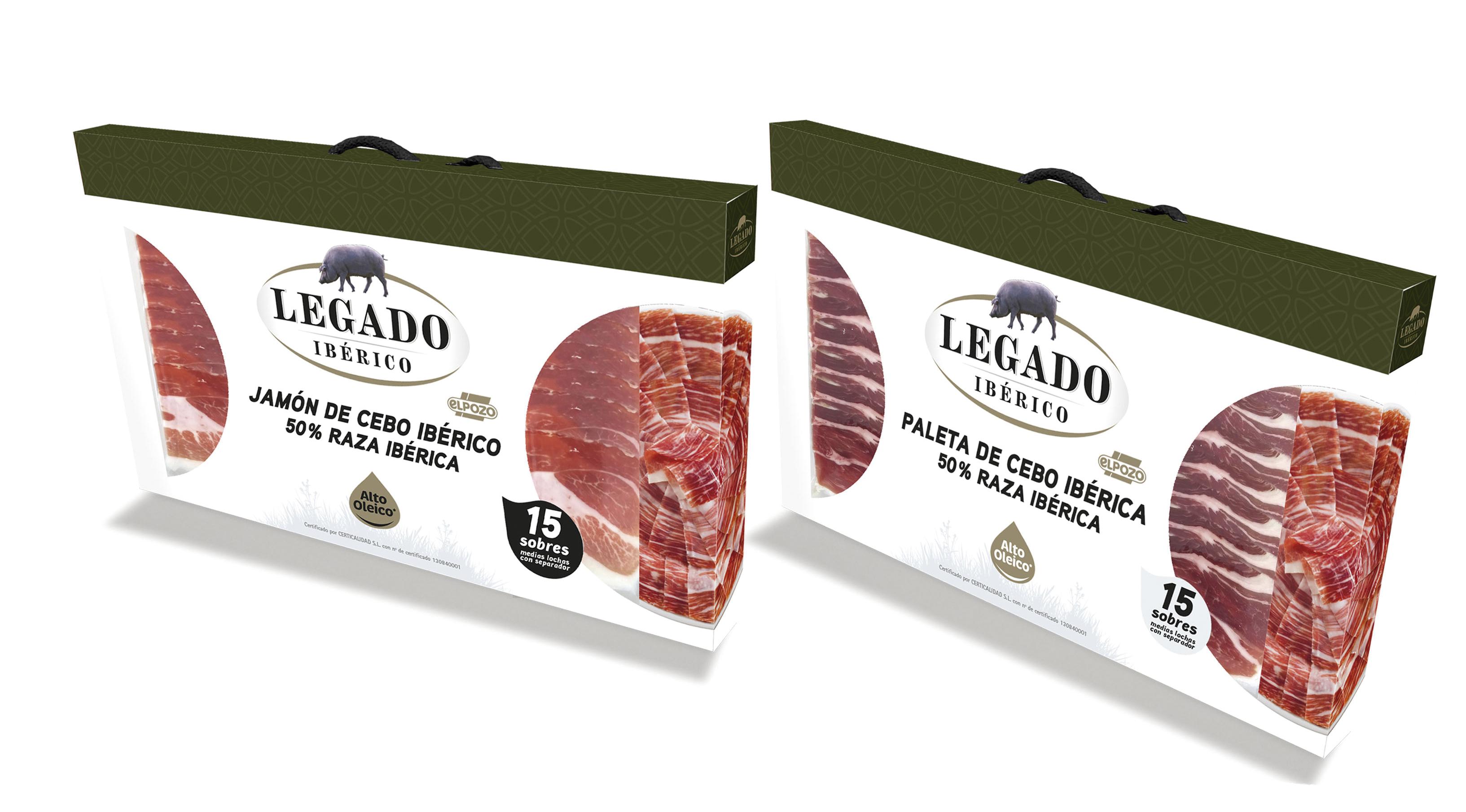 Estuches de loncheados de jamón y paleta 'Legado Ibérico'