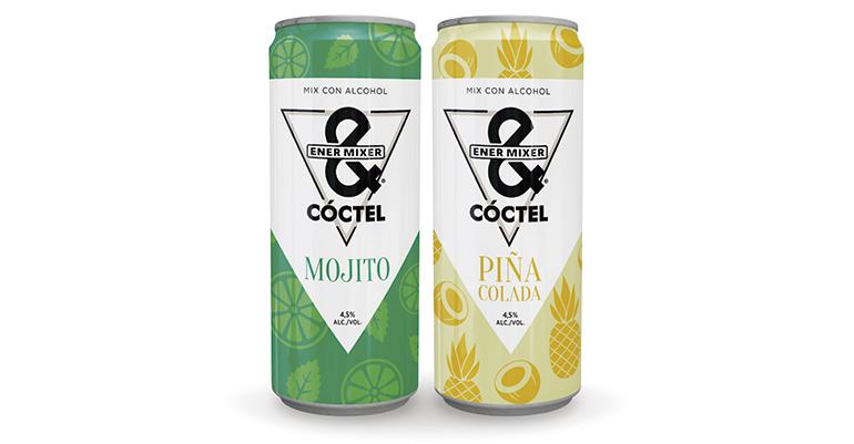 Ener&Mixer apuesta por los mix de sabores con baja graduación: Mojito y Piña Colada