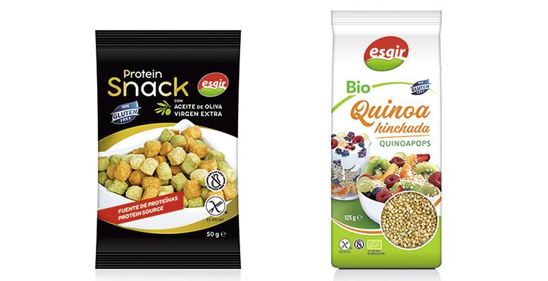 Snack de legumbres que aporta proteínas y quinoa hinchada eco