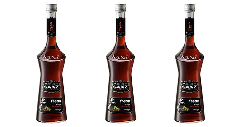 sirope-fresa-Jarabes-Sanz