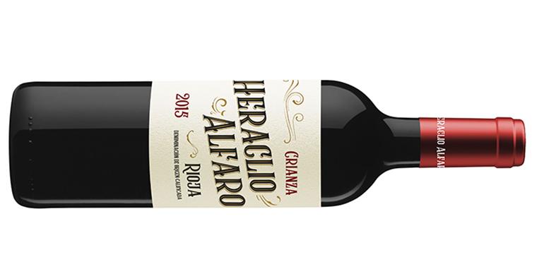 Rioja de crianza con la nueva imagen de marca Heraclio Alfaro