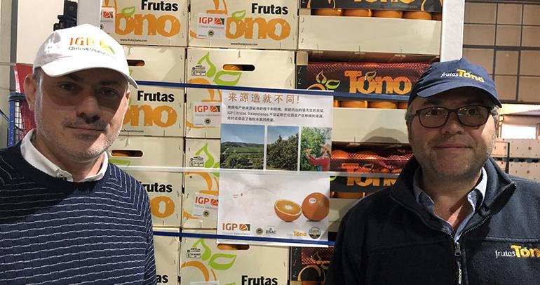 La IGP Cítricos Valencianos pone rumbo a China de la mano de Frutas Tono