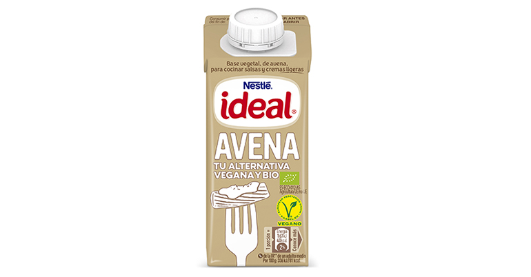 Ideal avena, alternativa veggie para salsas y cremas ligeras