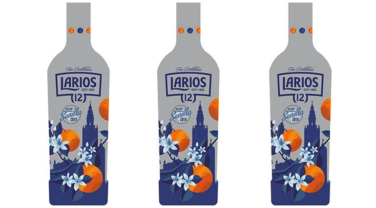 Las botellas de Larios 12 se tiñen de la Feria de Abril
