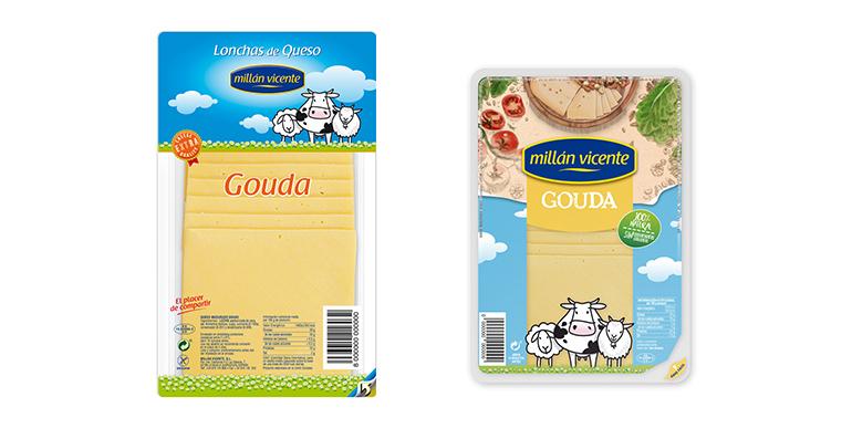 Millán Vicente reduce hasta un 15% el consumo de plástico en el nuevo packaging de las gamas de queso