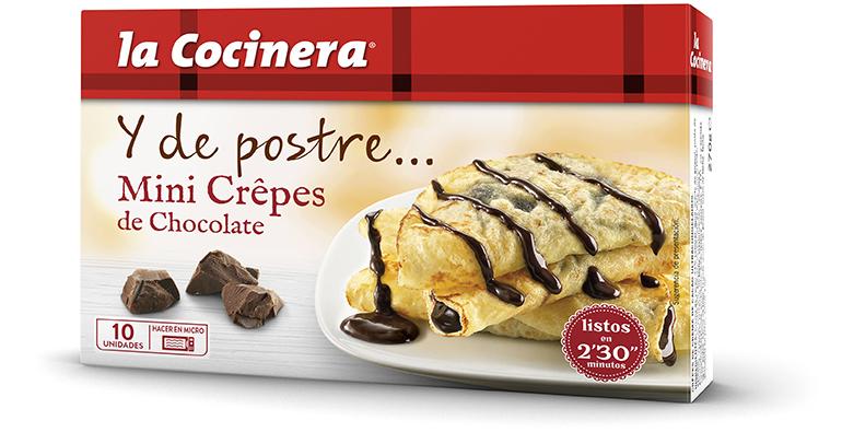 Mini crepes y leche frita, La Cocinera innova con una gama de postres congelados de fácil elaboración