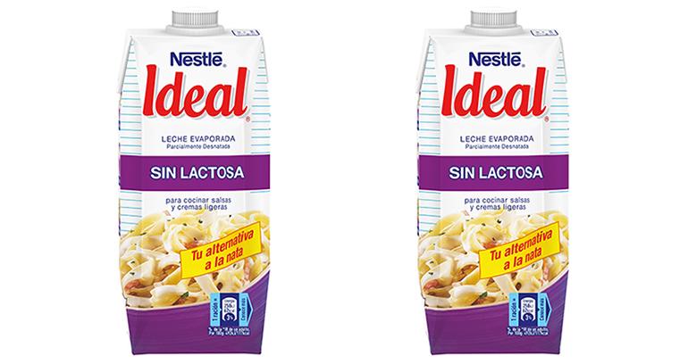 Leche evaporada sin lactosa para sustituir de forma saludable a la nata