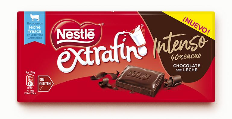 Extrafino Intenso, el chocolate con leche de siempre ahora con un 40% de cacao