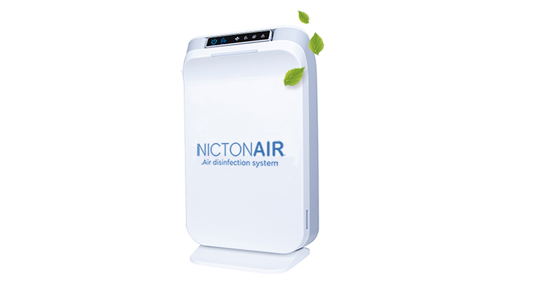 Nictonair, purificador de aire y superficies que elimina el 99,9% de los virus y bacterias
