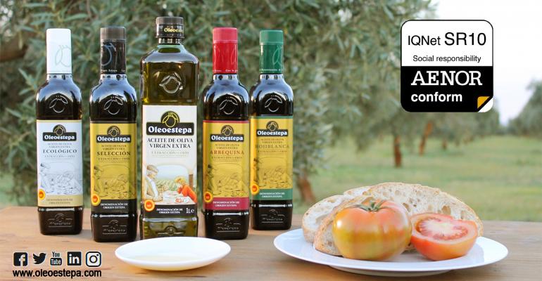 Oleoestepa primera empresa oleícola con Certificado IQNet SR10 sobre gestión de la responsabilidad social