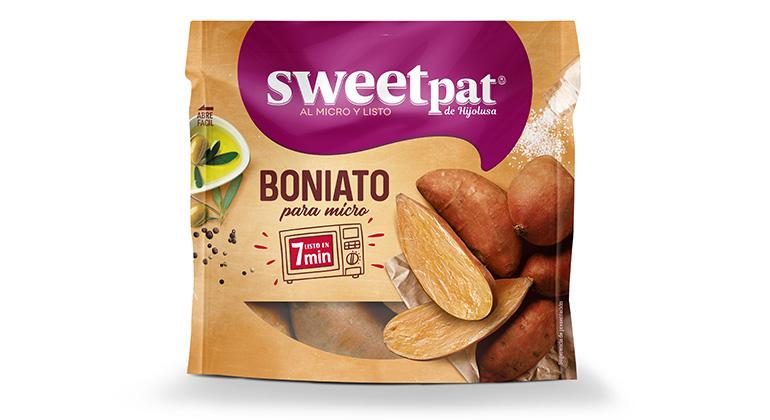 Boniato fresco seleccionado para cocinar en microondas en solo 7 minutos