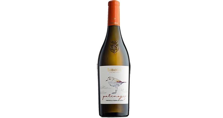 Patinegro, vino blanco seco con 100% de uvas Palomino Fino y con IGP Vino de la Tierra de Cádiz