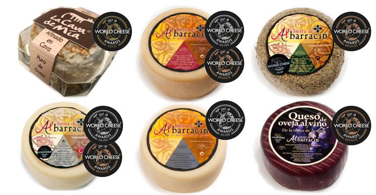 La quesería más premiada de Aragón logra otros 8 metales en los World Cheese Awards