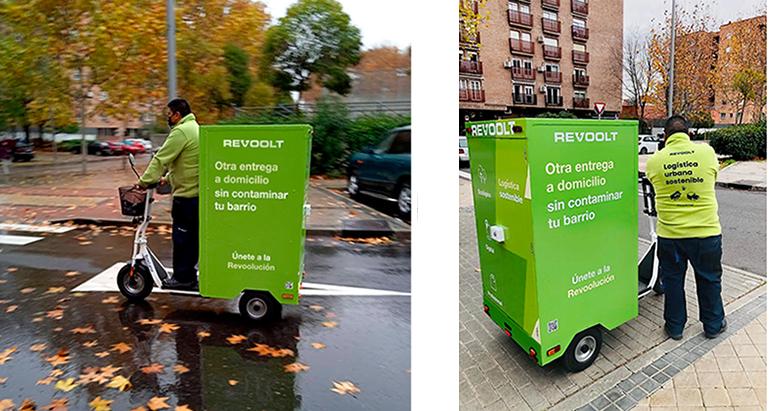 Revoolt prueba su primer patinete eléctrico de carga para el reparto de la compra