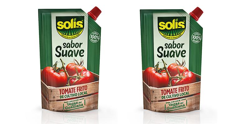 Envase innovador para el nuevo Tomate Frito Solís Sabor Suave