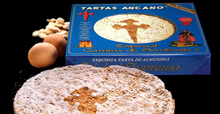 Tarta del Camino de Santiago con su inconfundible sabor e ingredientes de primera calidad
