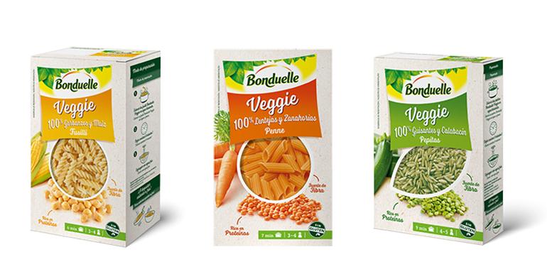Gama Veggie, 100% legumbres y verduras en forma de pasta y pepitas