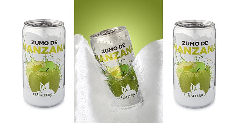 Refrescante y natural zumo de manzana, ahora en lata