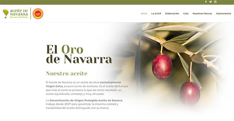 La DOP Aceite de Navarra estrena web durante una generosa campaña