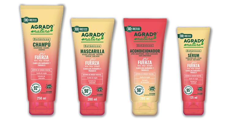 Champú, mascarilla, acondicionador y sérum capilar de cosmética sostenible y asequible