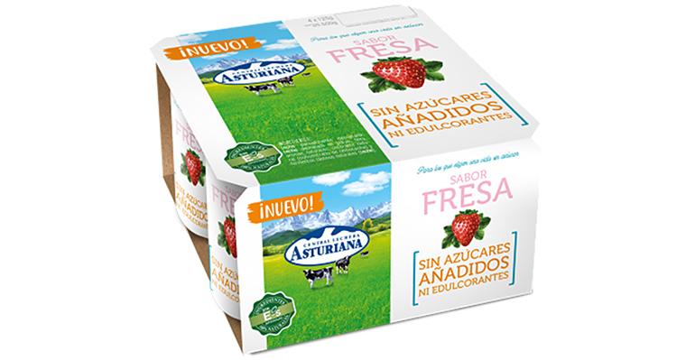Central Lechera Asturiana elabora los primeros yogures de sabores sin azúcar ni edulcorante