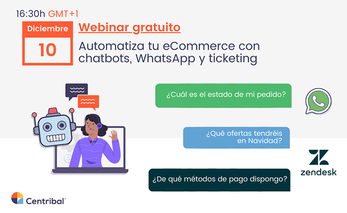 Automatiza tu ecommerce con chatbots, whatsapp y ticketing