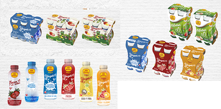 Yogures y Bífidus líquidos presentados en tres formatos distintos