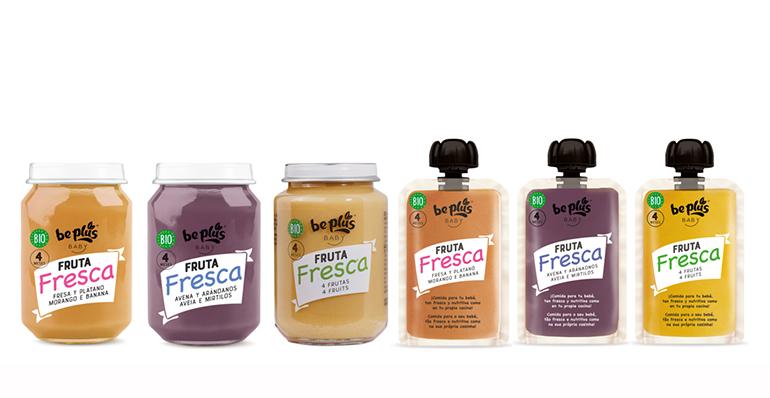 Alimentos infantiles elaborados sólo con fruta fresca e ingredientes ecológicos