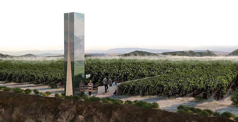 Lan-4, del arquitecto Alejandro Ramírez, instalación ganadora del concurso de intervención en Viña Lanciano