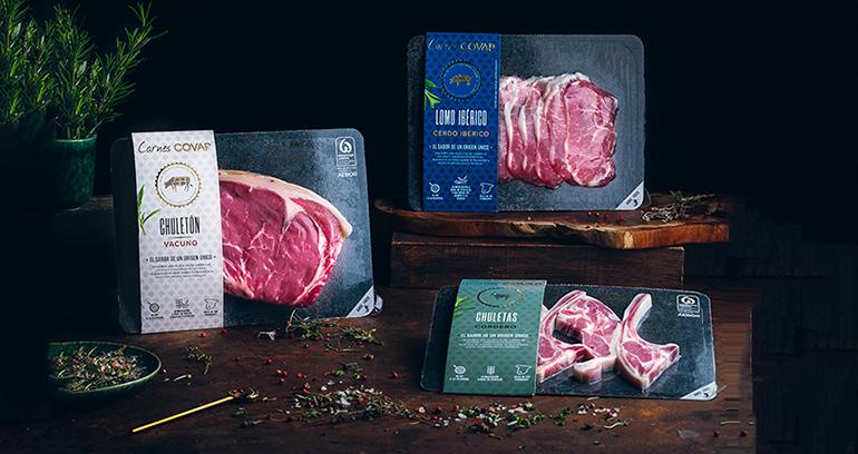 Gama de carnes frescas de cerdo ibérico, vacuno y cordero de la dehesa del Valle de los Pedroches
